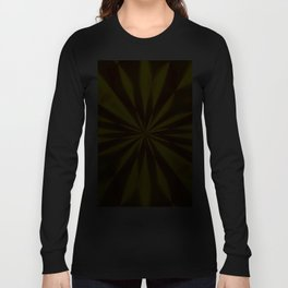 Bold Red, Green and Gold Repeating Starburst Long Sleeve T-shirt