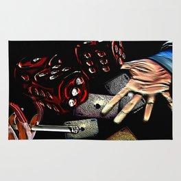Rollin (black/red) Rug