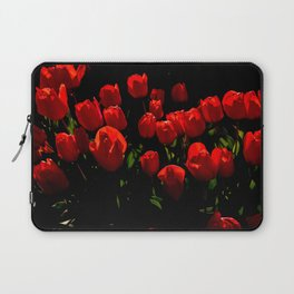 Red Tulips, British Columbia Laptop Sleeve