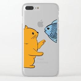 Cat & Fish Clear iPhone Case