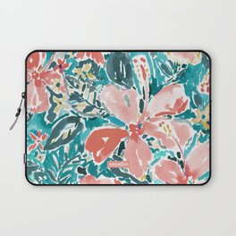 HELLO HIBISCUS - CORAL Laptop Sleeve