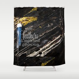 Where Feathers Fall Shower Curtain