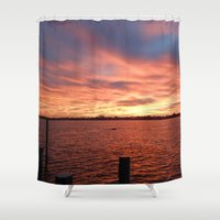 florida Shower Curtains featuring Florida Sunset by minx267