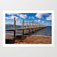 Autumn Dock Art Print