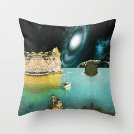 View from Rhodes Throw Pillow