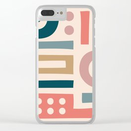 Mid Century Modern Abstract Composition 115 Clear iPhone Case
