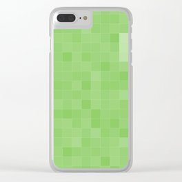 Green Tiles Clear iPhone Case