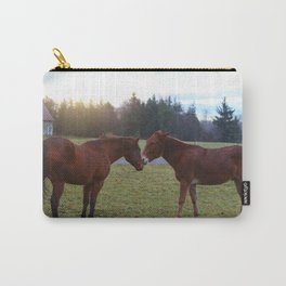Kissing Horses Carry-All Pouch