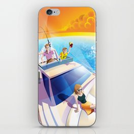 FAMILY ON YACHT iPhone Skin