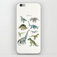 dinosaurs iPhone & iPod Skins featuring Dinosaurs by Amy Hamilton