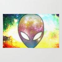 alien Area & Throw Rugs featuring Alien by Spooky Dooky