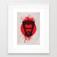 xmen Framed Art Prints featuring Logan by Fimbis