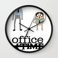 the office Wall Clocks featuring Office Time by Al's Visions