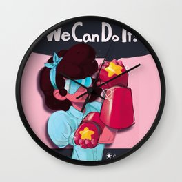Garnet the Riveter Wall Clock