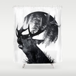 oh my world Shower Curtain