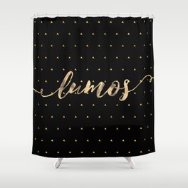 Lumos in Gold Shower Curtain