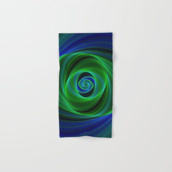 Green blue infinity Hand & Bath Towel