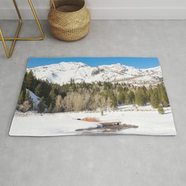 Adventure In The Snowy Mountains Rug