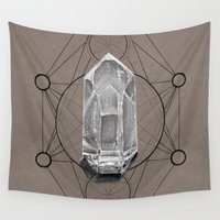 sacred geometry Wall Tapestries featuring Sacred Geometry  by Kit King & Oda