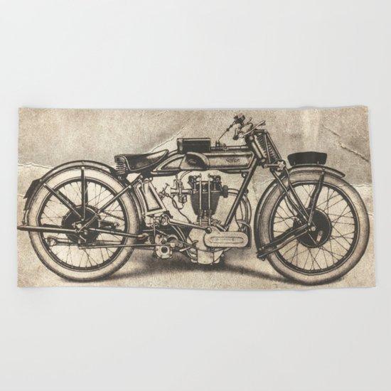 Norton Motorcycles Beach Towel