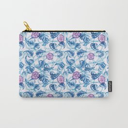 Ipomea Flower_ Morning Glory Floral Pattern Carry-All Pouch