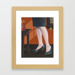 girl with legs Framed Art Print