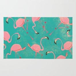 Pink Flamingo  Pattern Rug