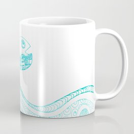 Doodle fish jumping out of the water Maritime Coffee Mug