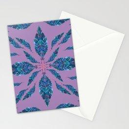 Feather Mandala Rose Stationery Cards