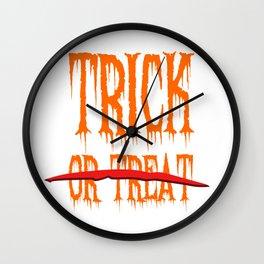 Trick, no Treat Wall Clock