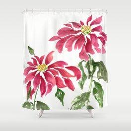 Poinsettias  Shower Curtain