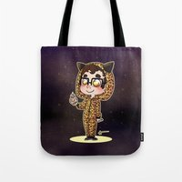 darren criss Tote Bags featuring Darren & BB8 by Sunshunes