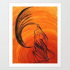 Angel under cover Art Print