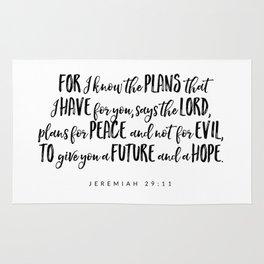 Jeremiah 29:11 - Bible Verse Rug
