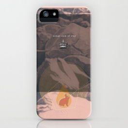 Dinner with the king iPhone Case