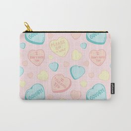 Introvert Conversation Hearts Carry-All Pouch