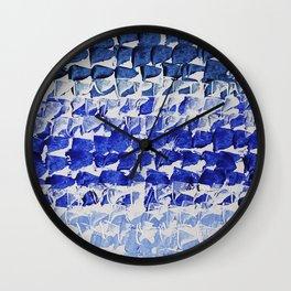 Modern Minimalist Abstract Blue Water Wall Clock