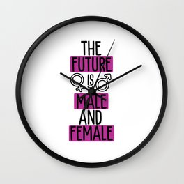 The Future Is Male And Female Feminist Empowerment Wall Clock