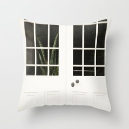 Snake Plant in Philadelphia Throw Pillow