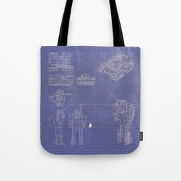 Transformer Blueprints Tote Bag