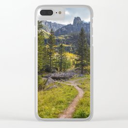 Telluride Waterfall Hike, Cairn City Clear iPhone Case