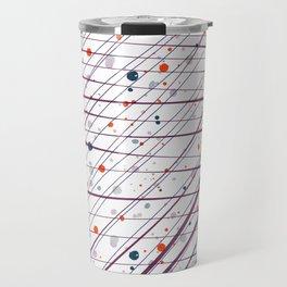 Maroon Splatter Pattern Travel Mug