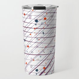 Maroon Splatter Pattern Travel Mug