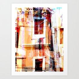 Collage Doors and Windows Art Print