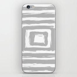 Minimal Light Gray Brush Stroke Square Rectangle Pattern iPhone Skin