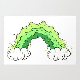 Puke Rainbow Art Print