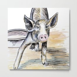 Lunch Any Time Soon? Metal Print
