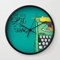 the perks of being a wallflower Wall Clocks featuring the love you deserve - perks of being a wallflower by Lovemaltine
