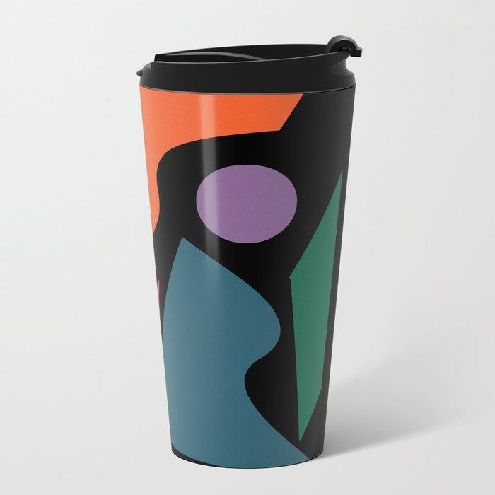 Abstract #205 Metal Travel Mug
