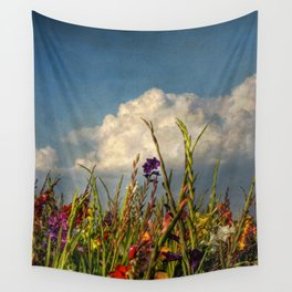 colored swords - field of Gladiola flowers Wall Tapestry